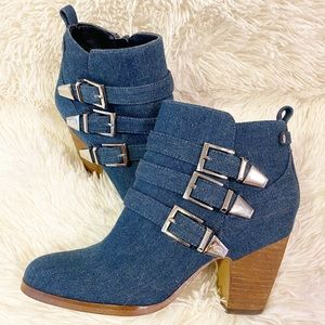 Crown Vintage Denim Booties - Great Condition